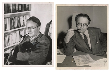 CHANDLER, Raymond (1888–1959). Pair of Press Photos. 1945. ...